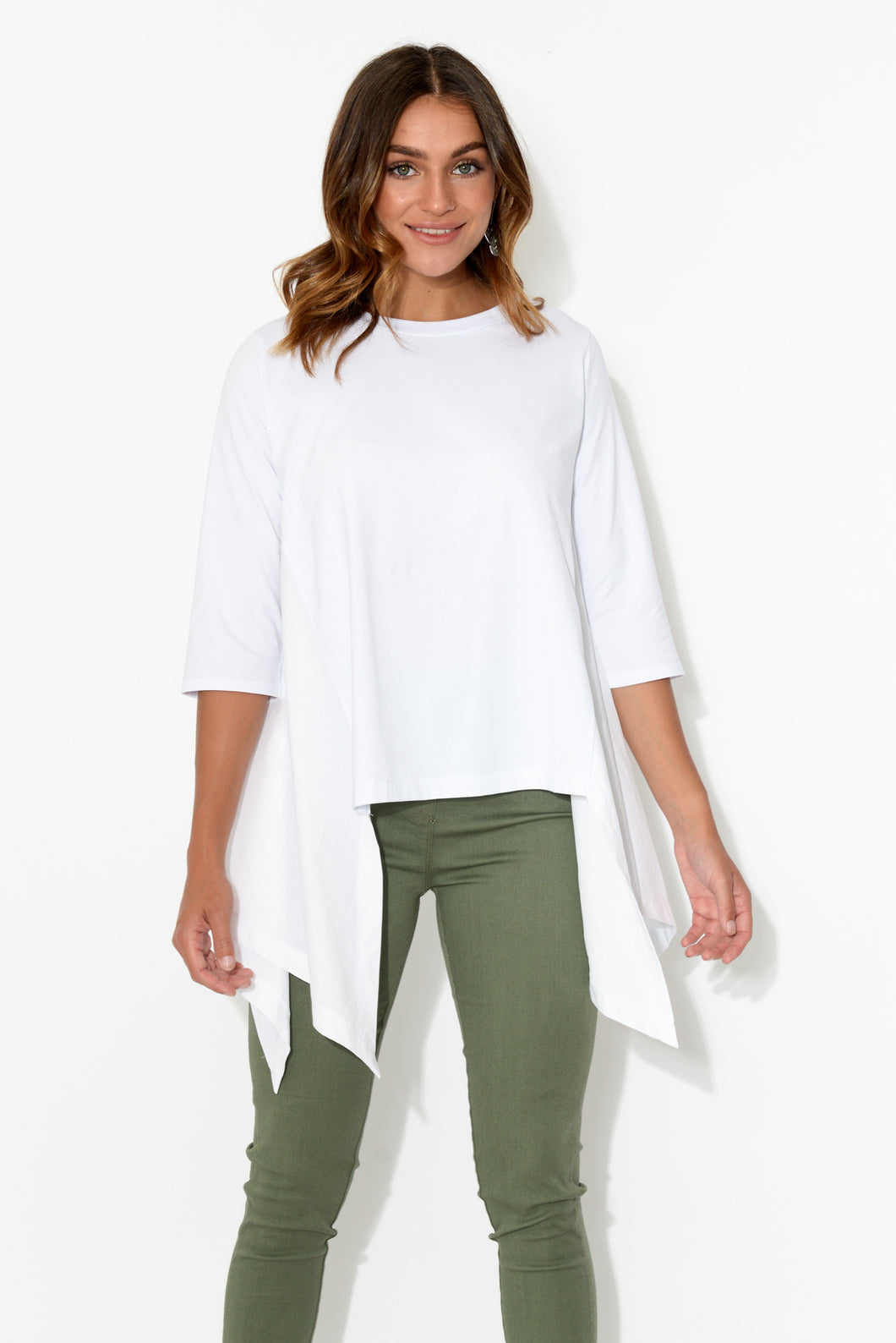 Arcadia White Asymmetrical Top