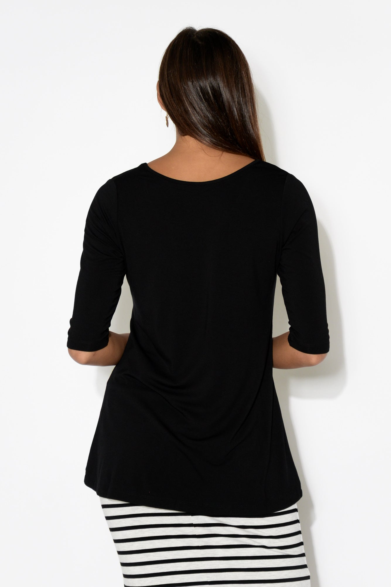 Aretha Black Bamboo Top