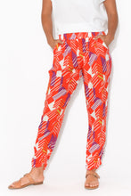Argos Red Geo Ruched Pant