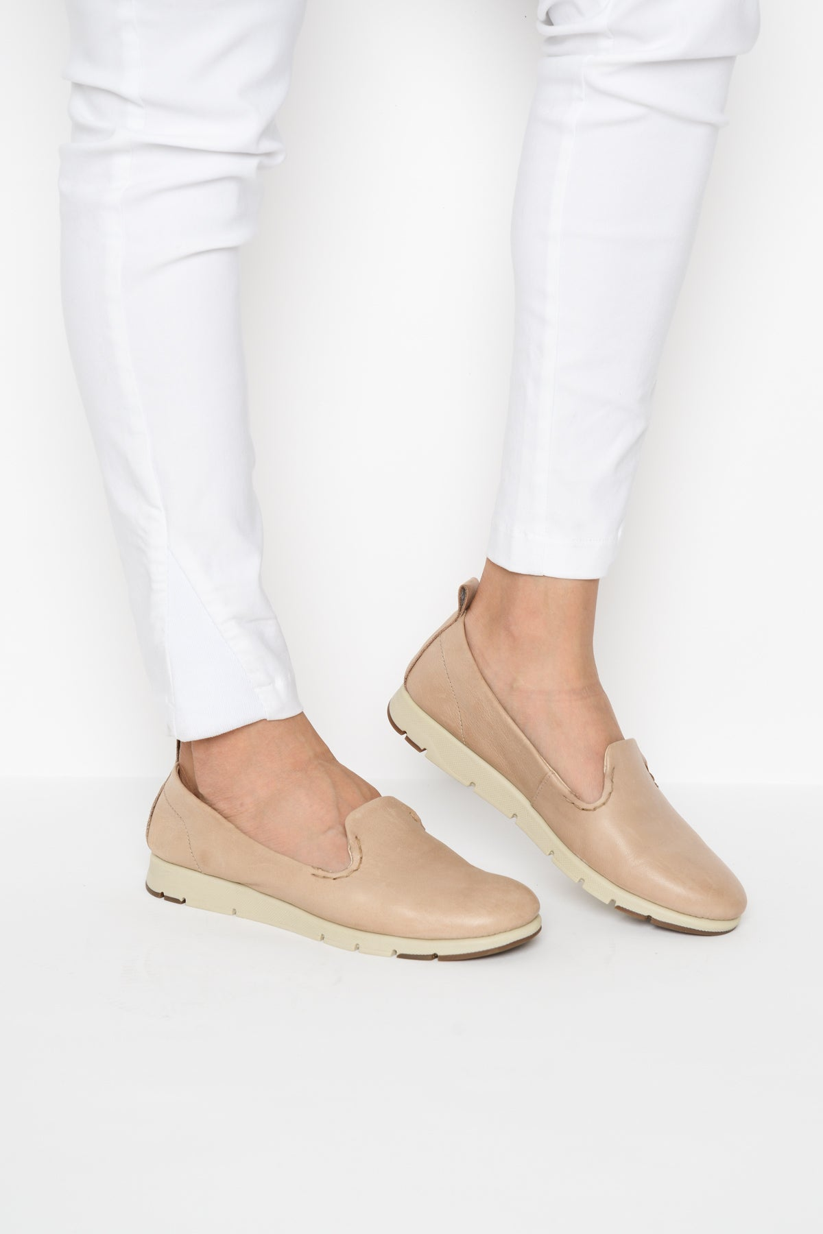 Aria Nude Leather Shoe - Blue Bungalow