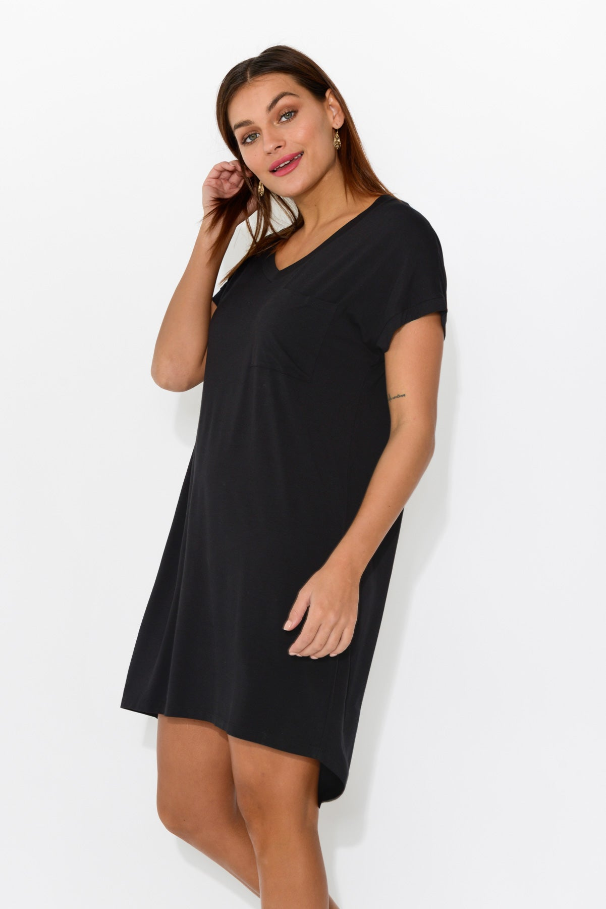 Arizona Black Tee Dress - Blue Bungalow