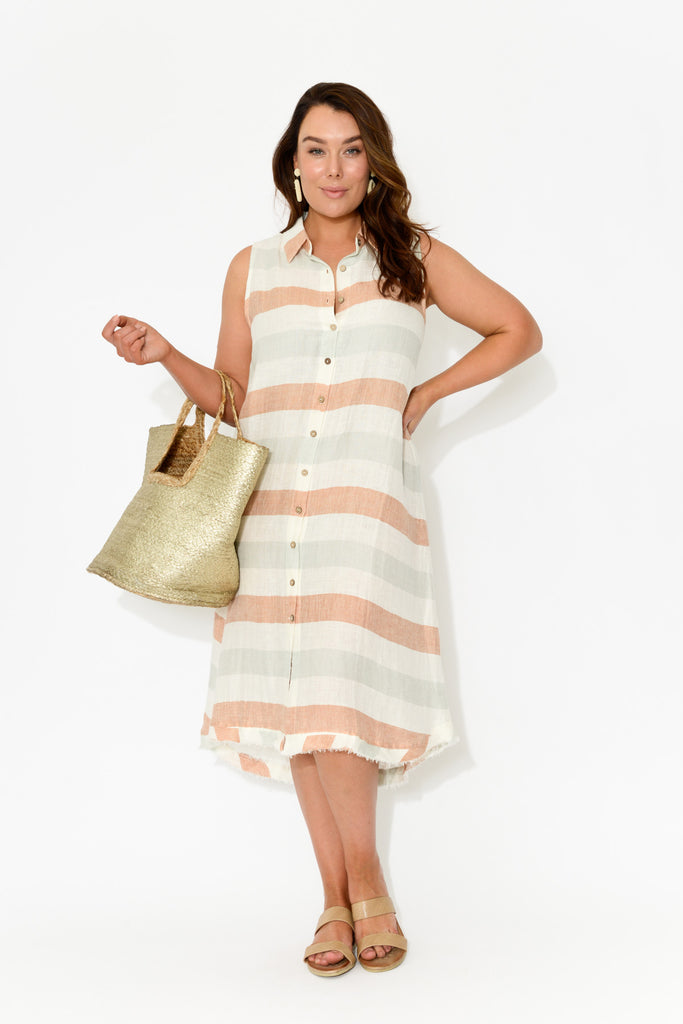 Asti Stripe Sleeveless Dress