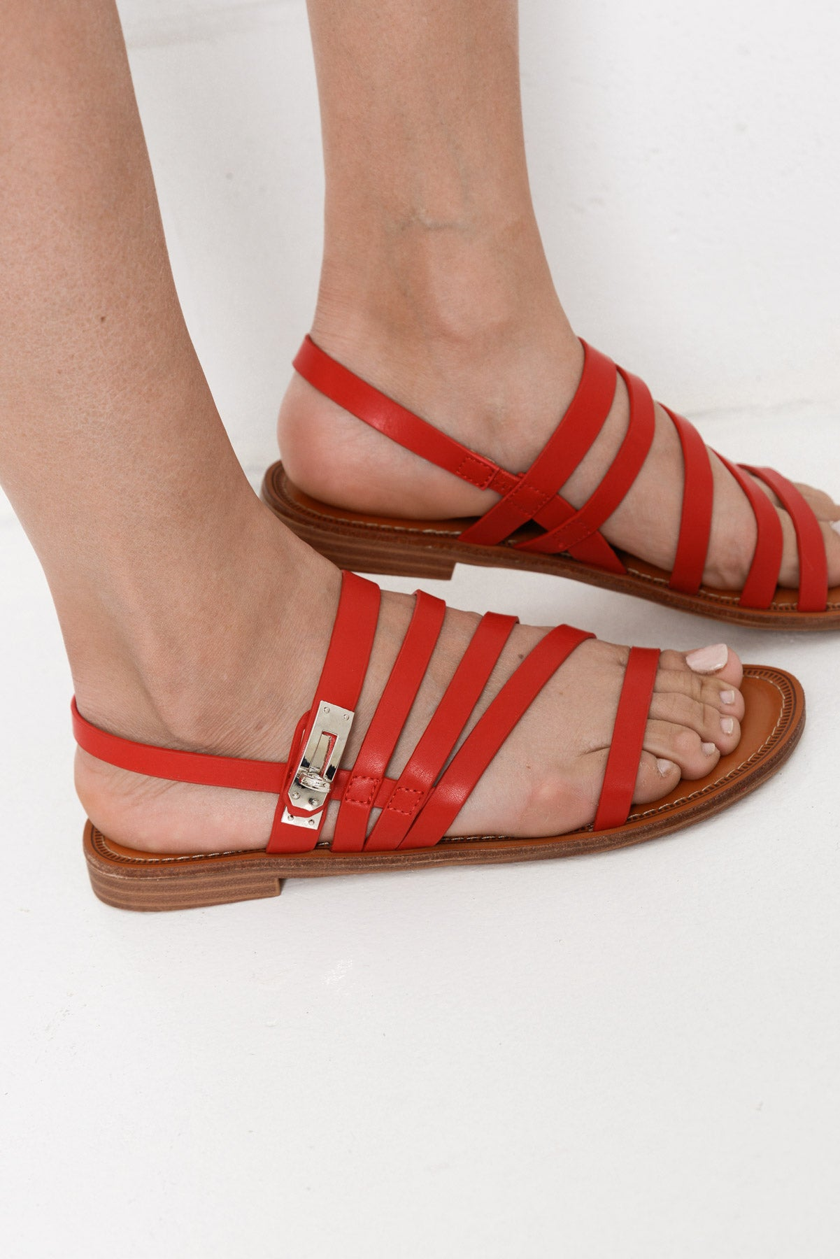 Aten Red Sandal - Blue Bungalow