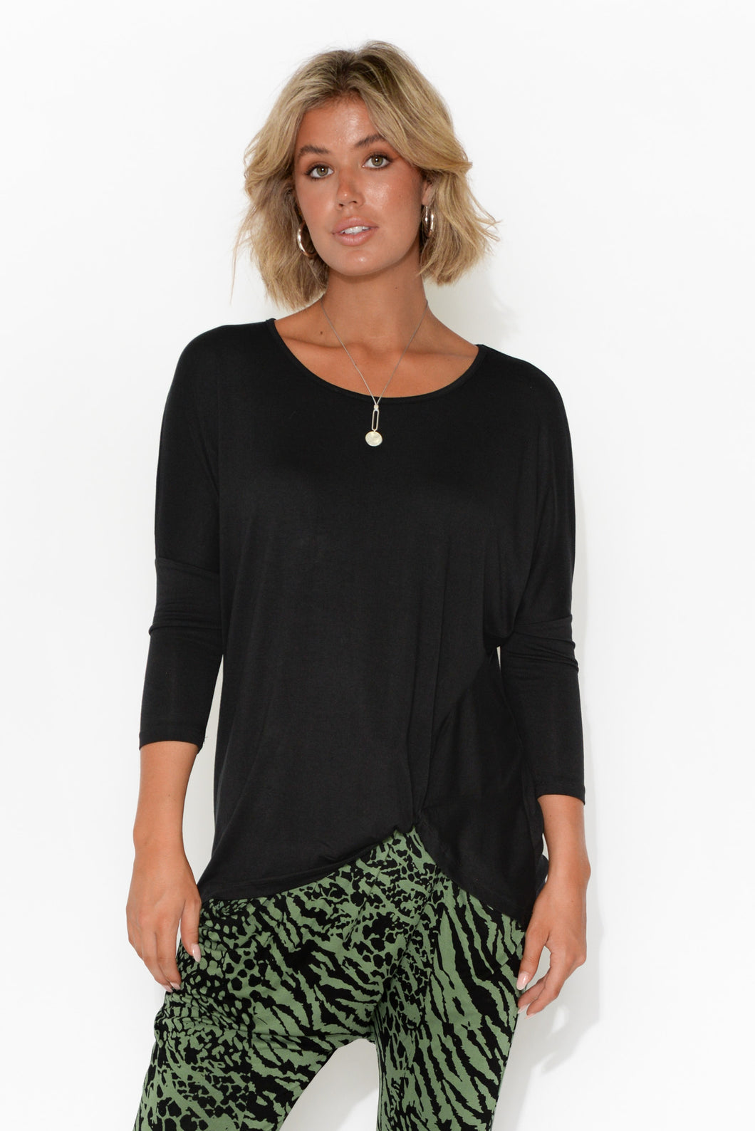 Atlanta Black Knot Top