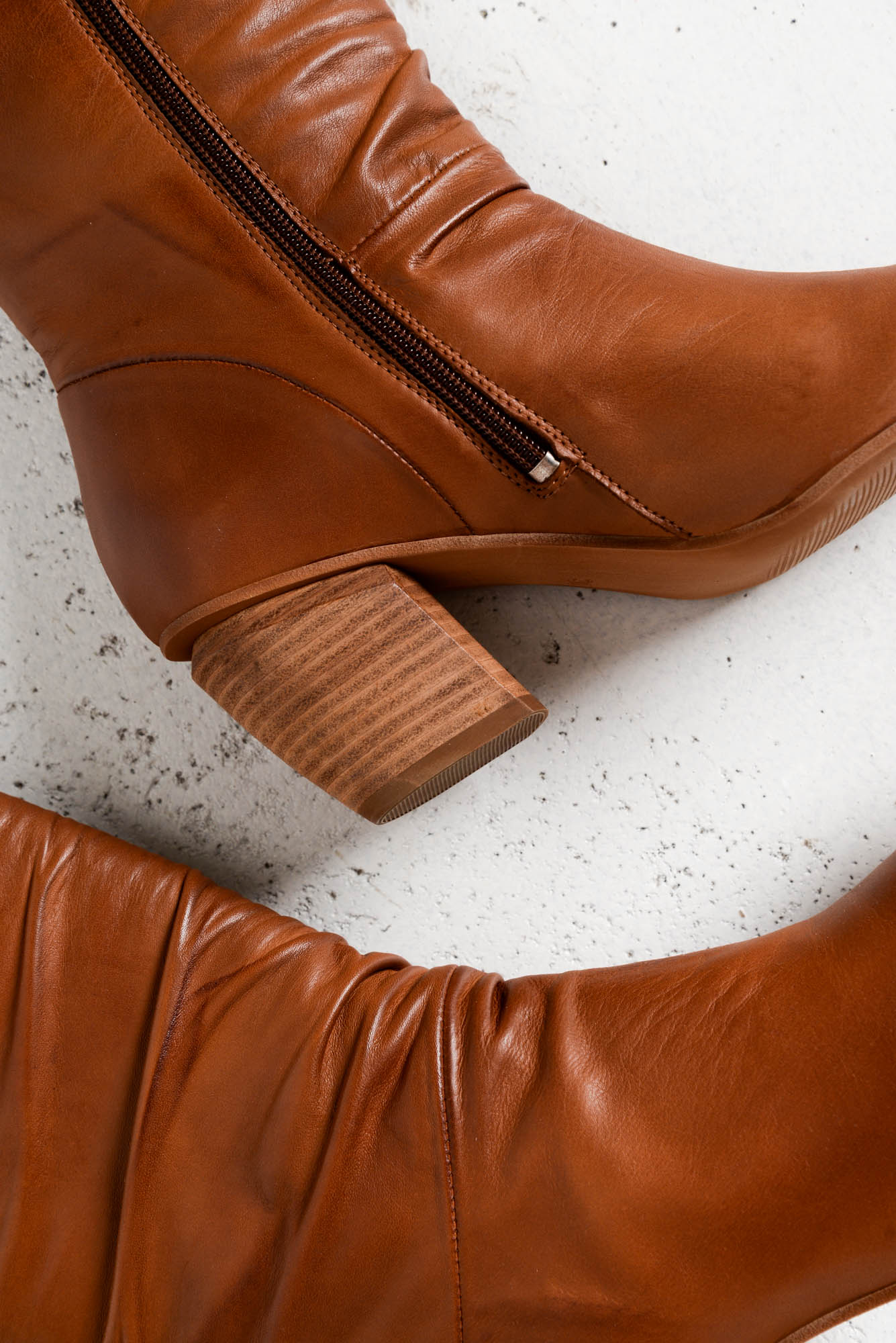 Atticus Brandy Leather Boot