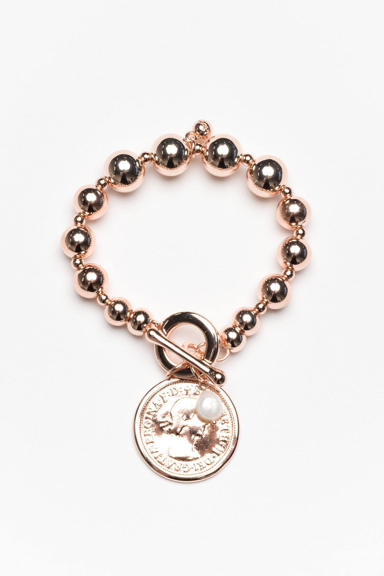 Jeva Rose Gold Coin Bracelet