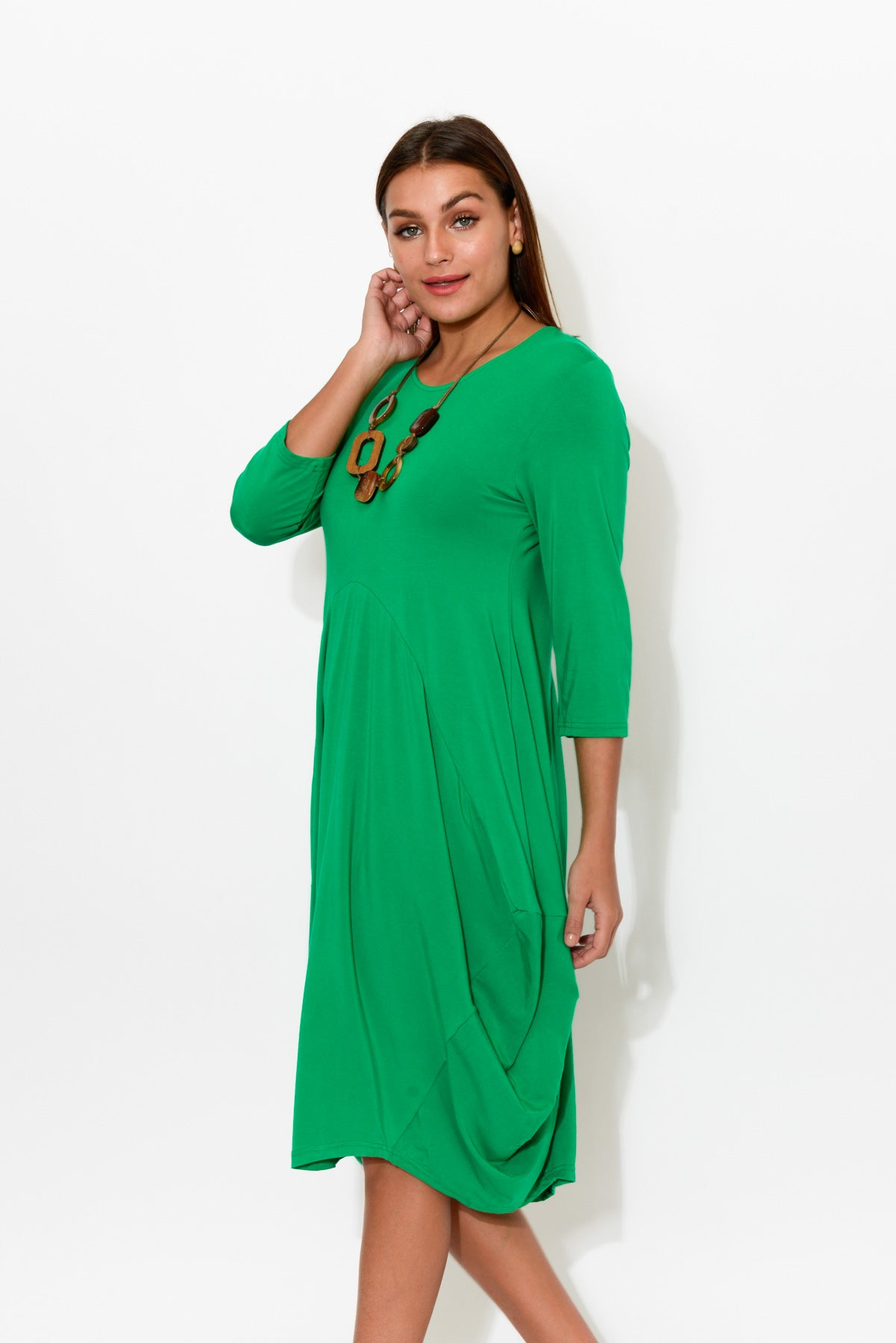 Ayla Green Bamboo Dress - Blue Bungalow