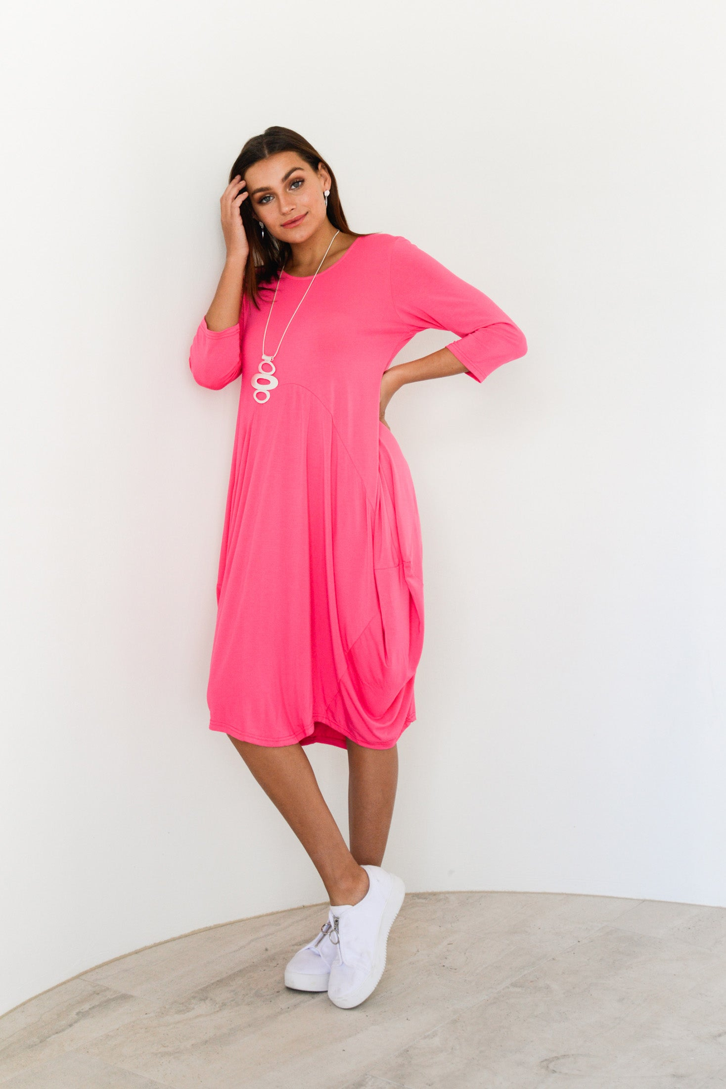 Ayla Pink Bamboo Dress - Blue Bungalow