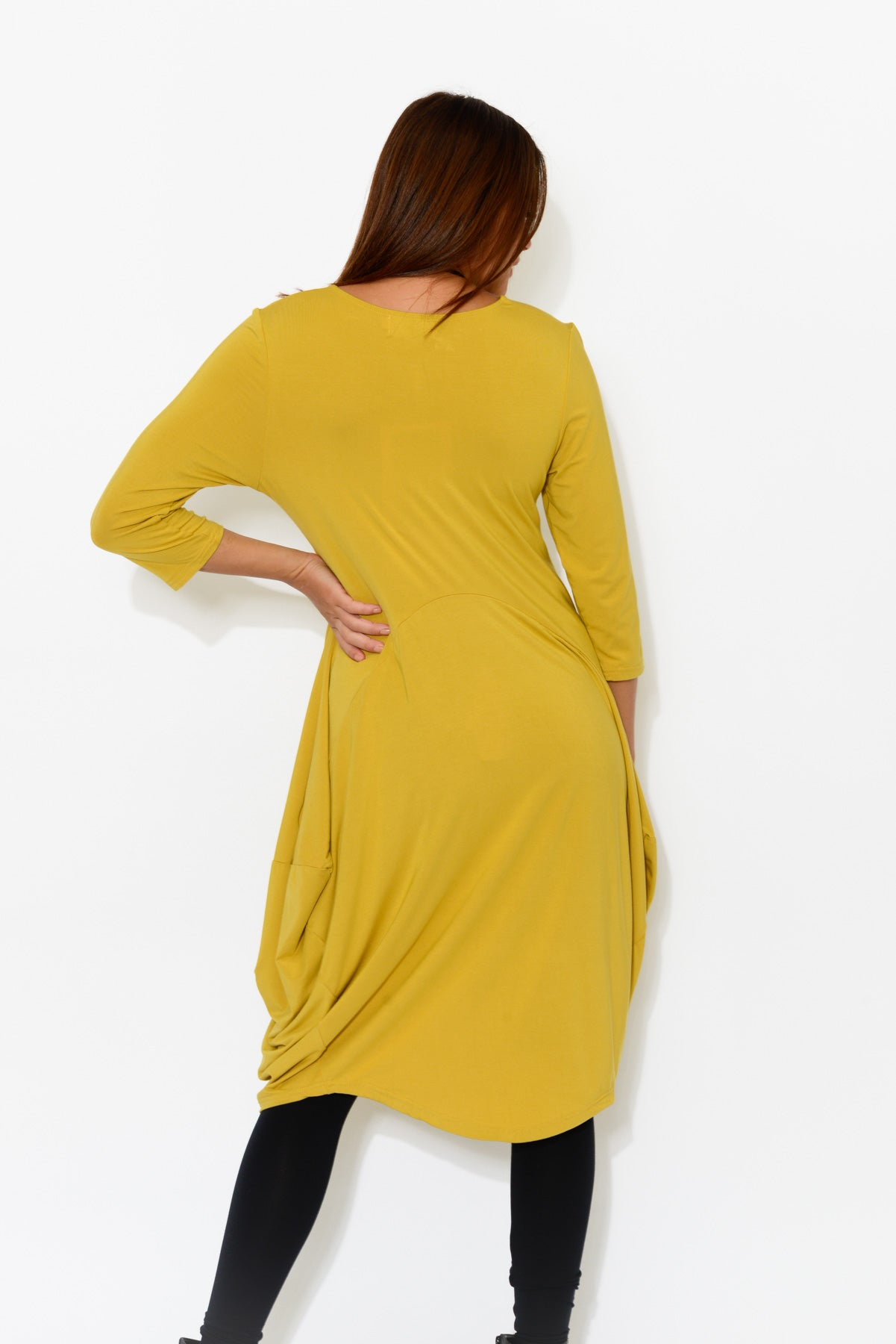 Ayla Yellow Bamboo Dress - Blue Bungalow