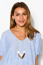 Hayman Timber V Necklace - Blue Bungalow