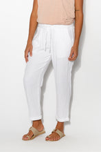 White Bonded Cotton Pant - Blue Bungalow