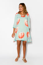 Holly Blue Apples Dress - Blue Bungalow