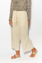 Minnelli Sand Linen Cotton Pant - Blue Bungalow