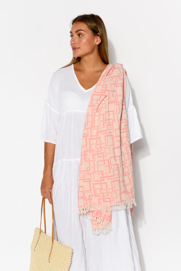 Luna Blush Turkish Towel - Blue Bungalow