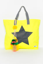 Star Yellow Large Canvas Tote - Blue Bungalow