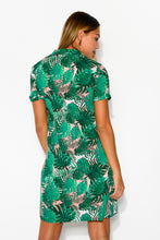 Tropicana Green Shirt Dress