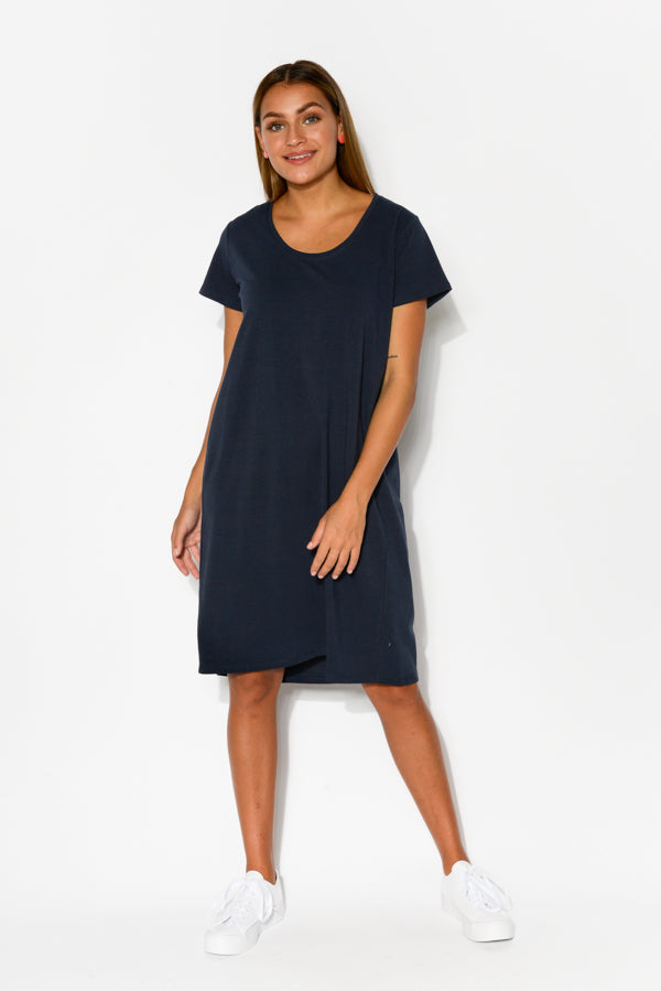 Ramona Navy Tee Dress