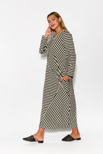 Leisa Beige Stripe Maxi Dress - Blue Bungalow