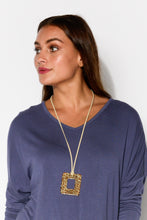 Cheetah Square Necklace - Blue Bungalow