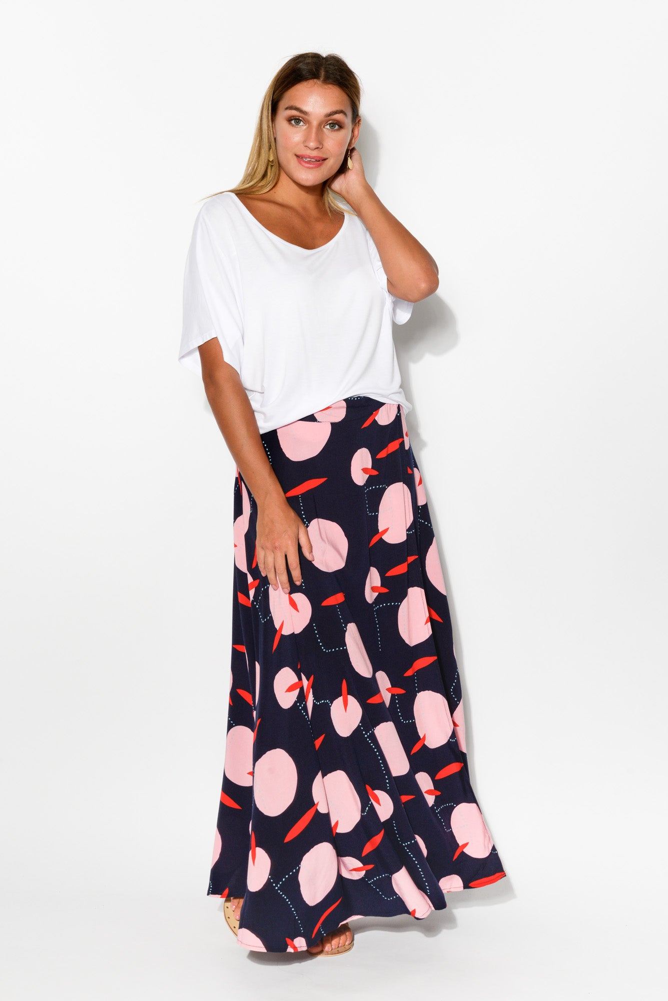 Luna Maxi Wrap Skirt - Blue Bungalow