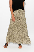 Beige Cheetah Tiered Maxi Skirt - Blue Bungalow