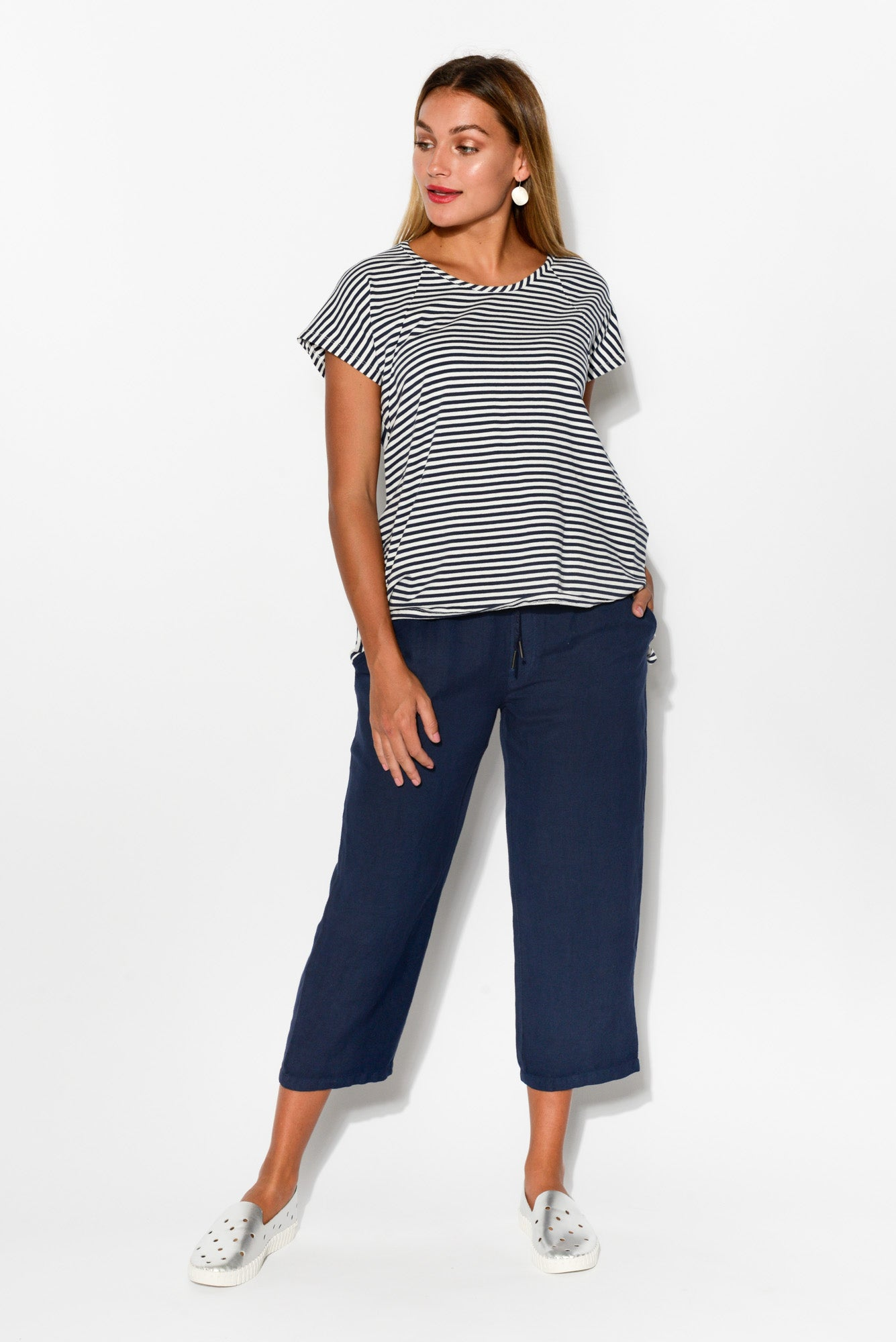 Navy Cat 3/4 Pant - Blue Bungalow