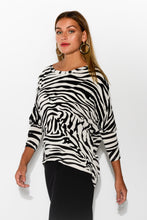 Ava White Zebra Top - Blue Bungalow