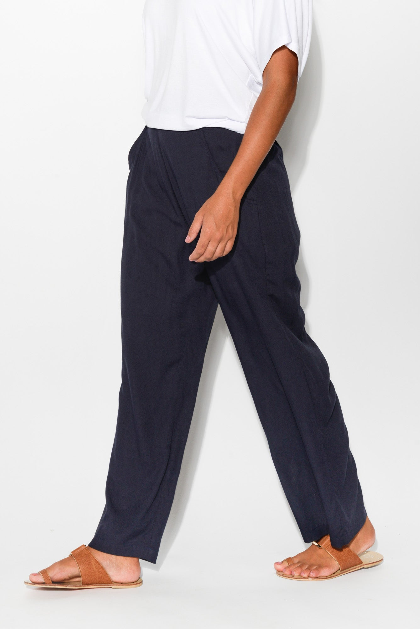 Lucy Navy Pant - Blue Bungalow