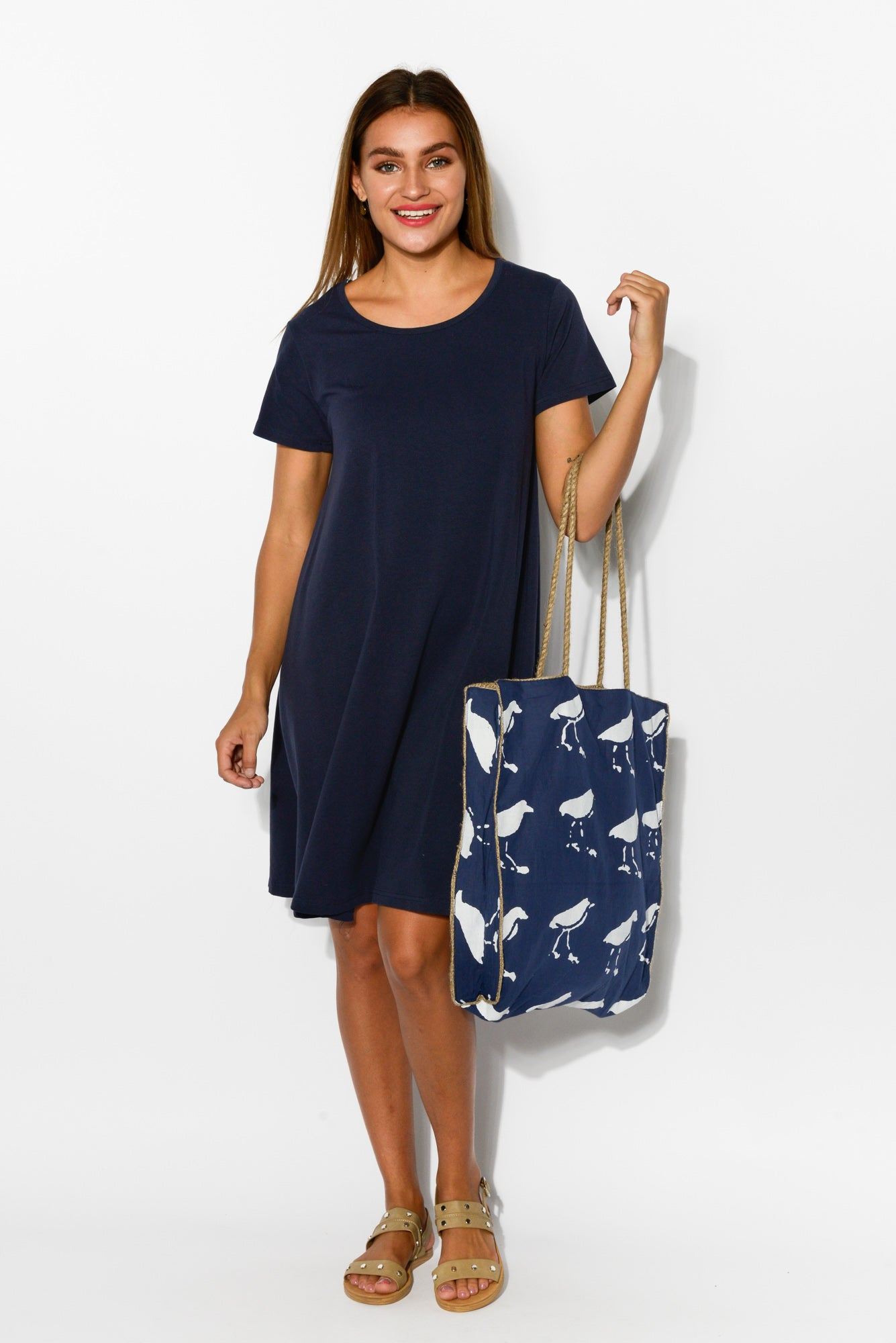 Alice Navy Swing Tee Dress