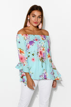 Amal Blue Cherry Blossom Top - Blue Bungalow