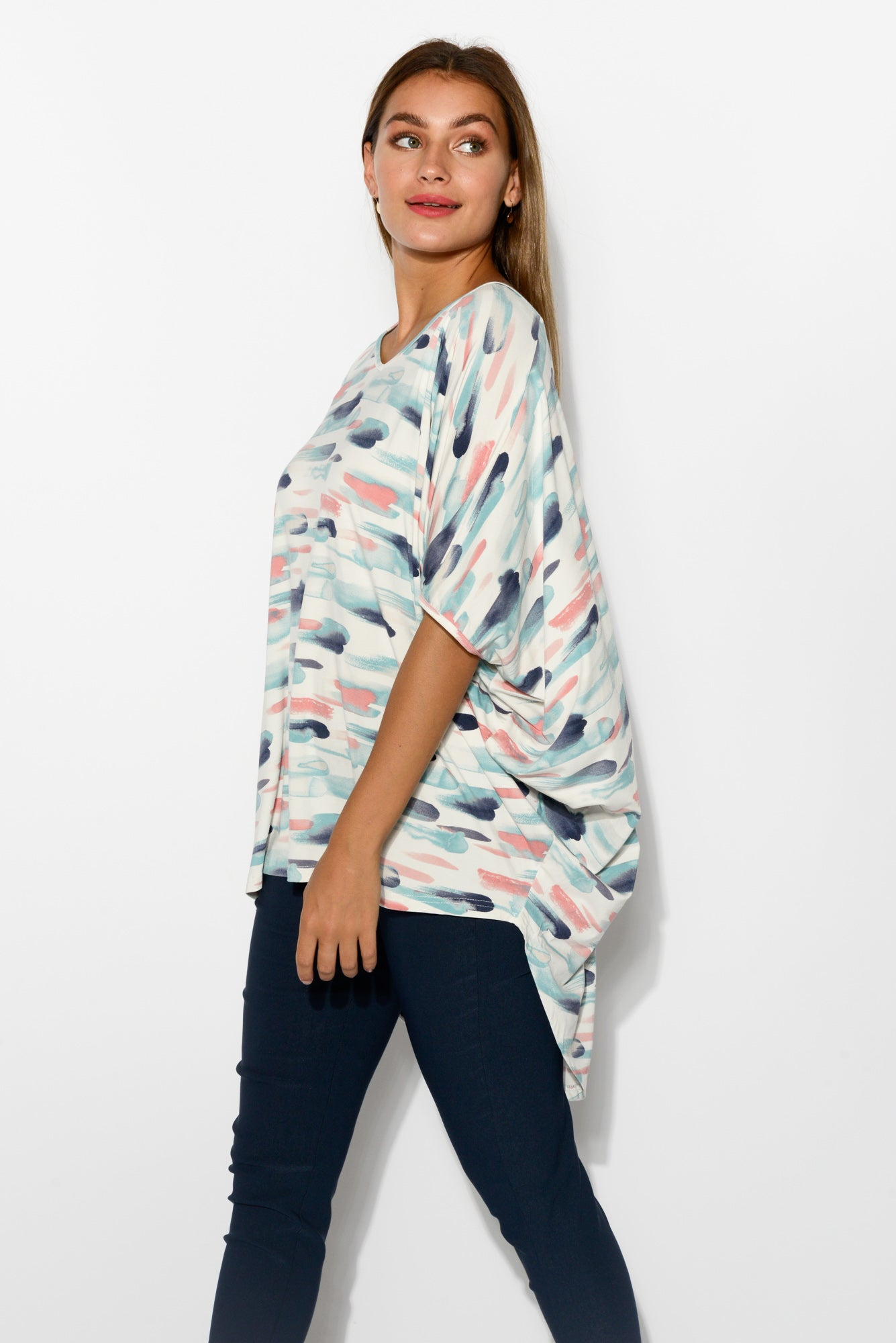 Emory Gelato Bamboo Hi Lo Batwing Top - Blue Bungalow