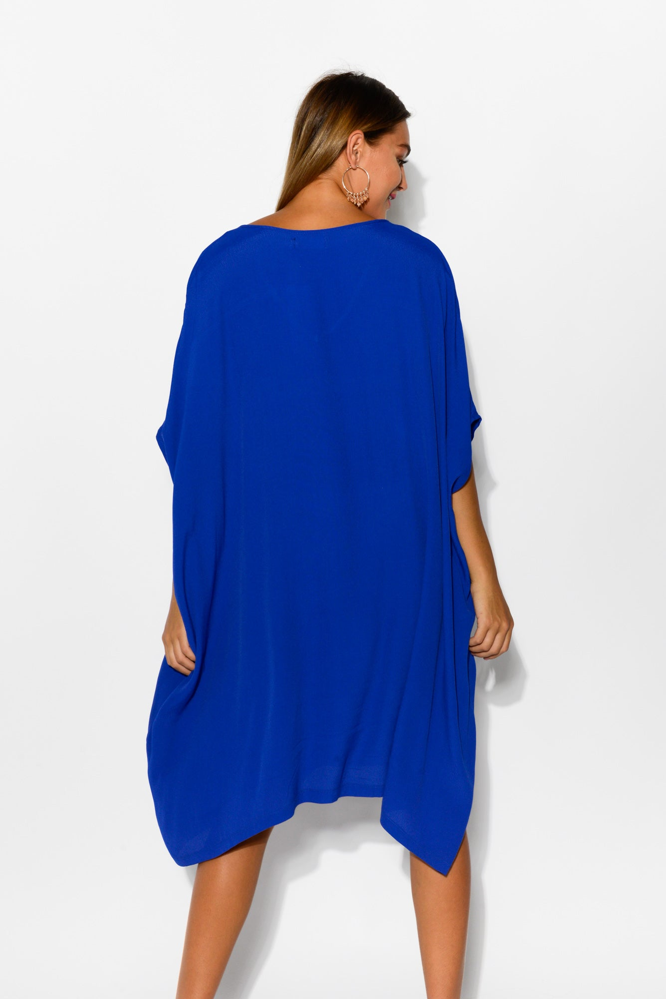 Tallie Cobalt Blue Drape Dress