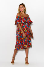 Bianca Red Toucan Dress - Blue Bungalow
