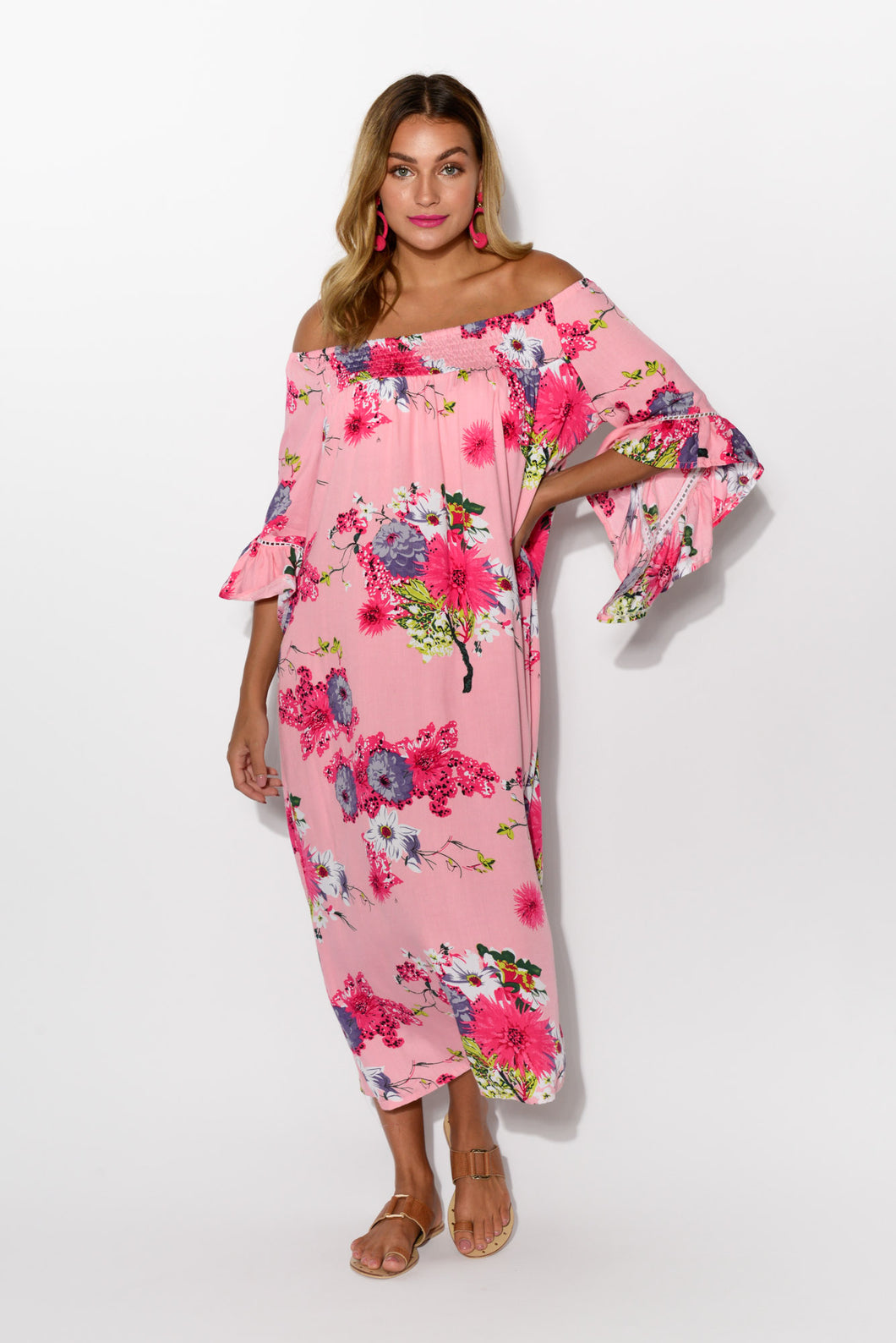 Amanda Blush Sakura Maxi Dress - Blue Bungalow