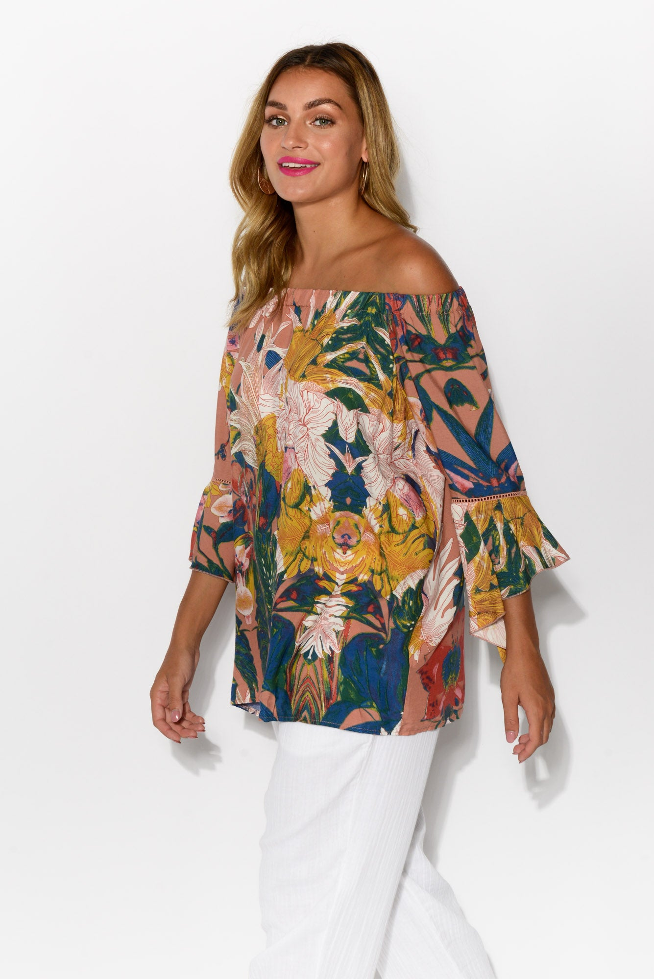 Ronnie Mauve Off Shoulder Top
