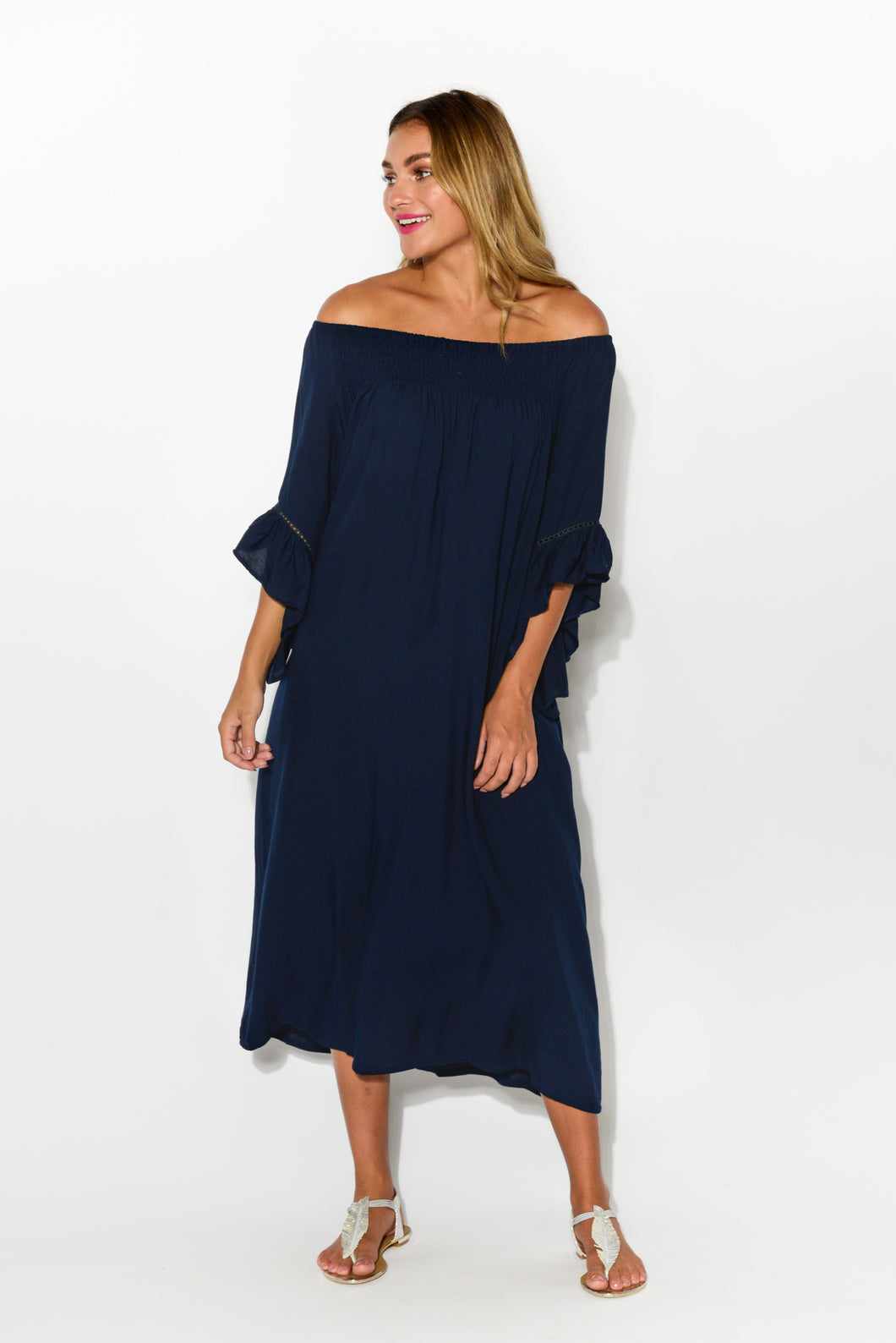 Amanda Navy Maxi Dress - Blue Bungalow