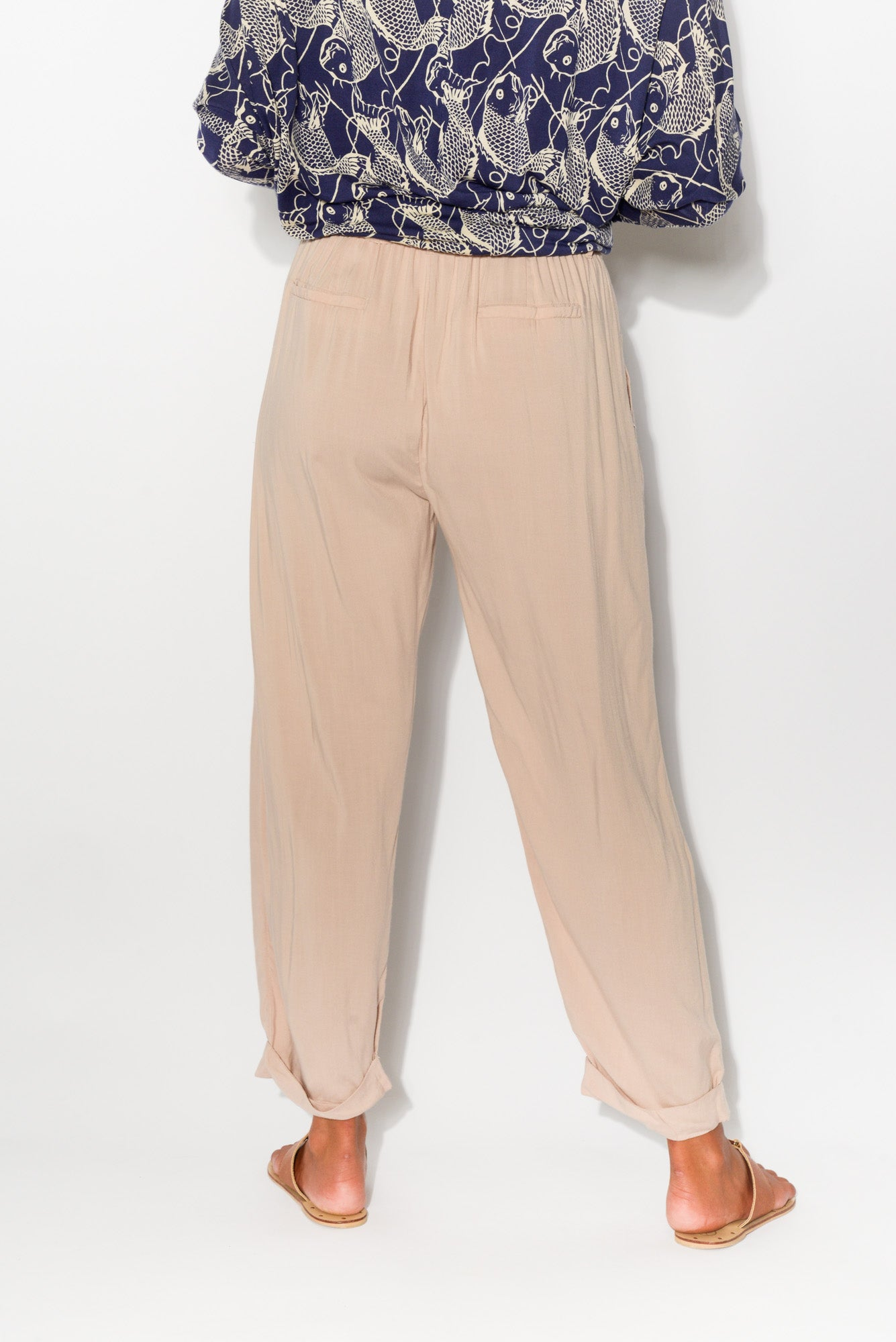 Joanna Blush Straight Pant - Blue Bungalow