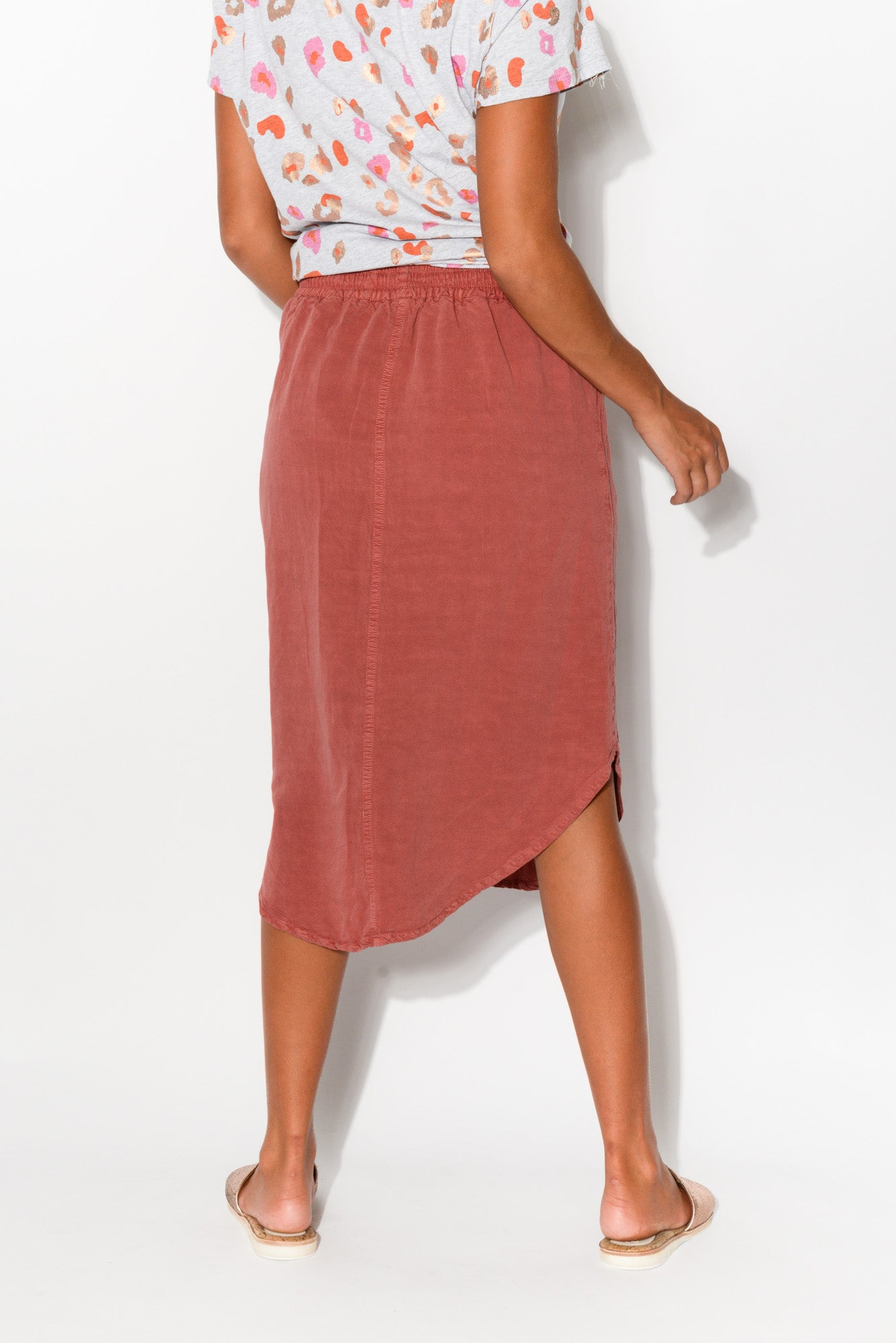 Sennia Rose Zip Pocket Skirt - Blue Bungalow