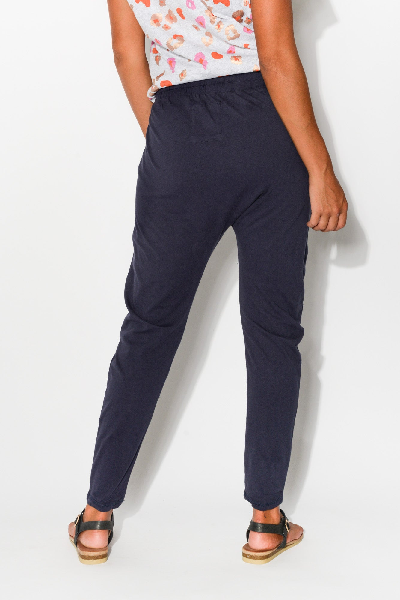 Navy Cotton Picnic Drop Crotch Pant - Blue Bungalow