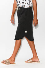 Isla Washed Black Cotton Skirt - Blue Bungalow