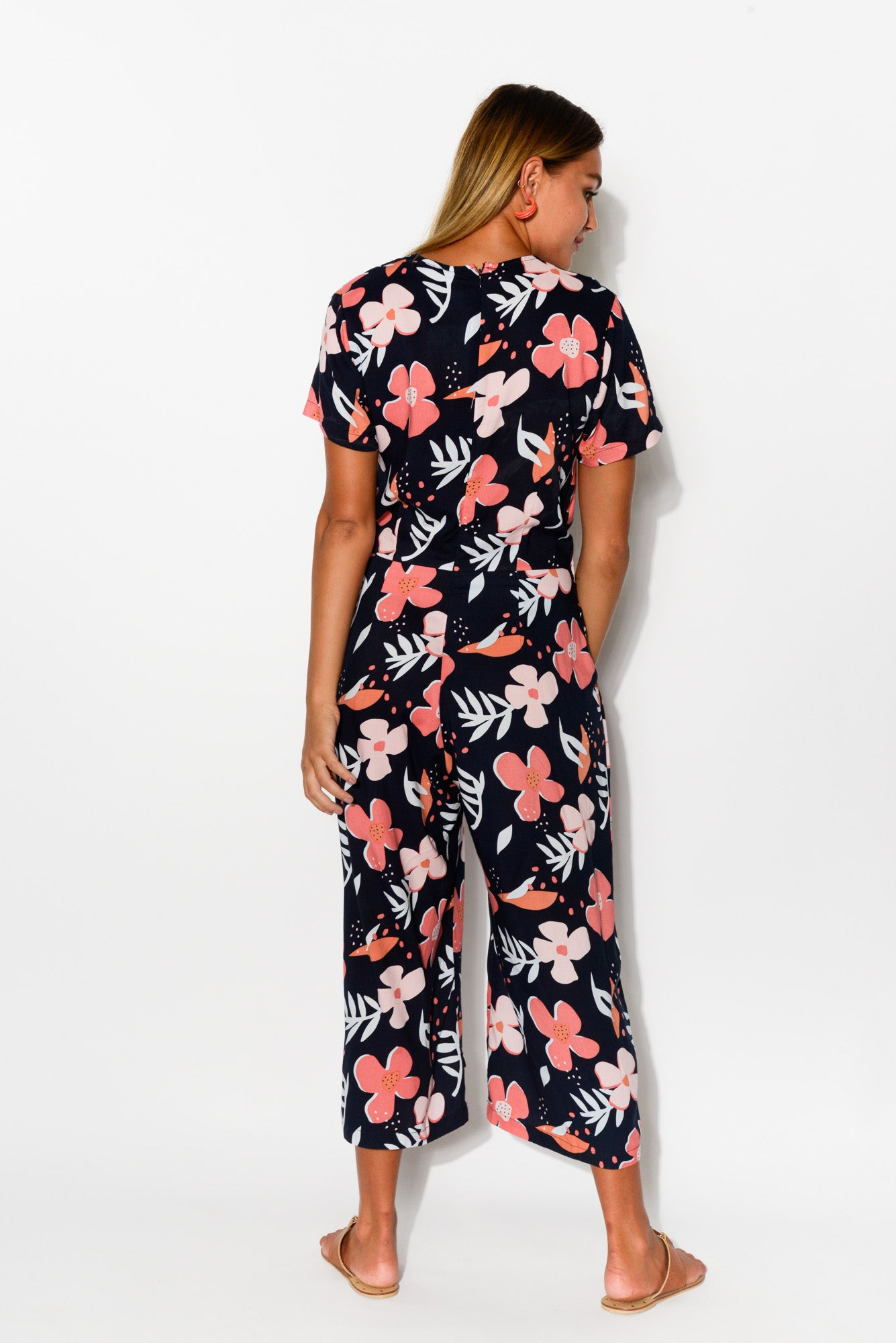 Bloom Navy Floral Jumpsuit - Blue Bungalow