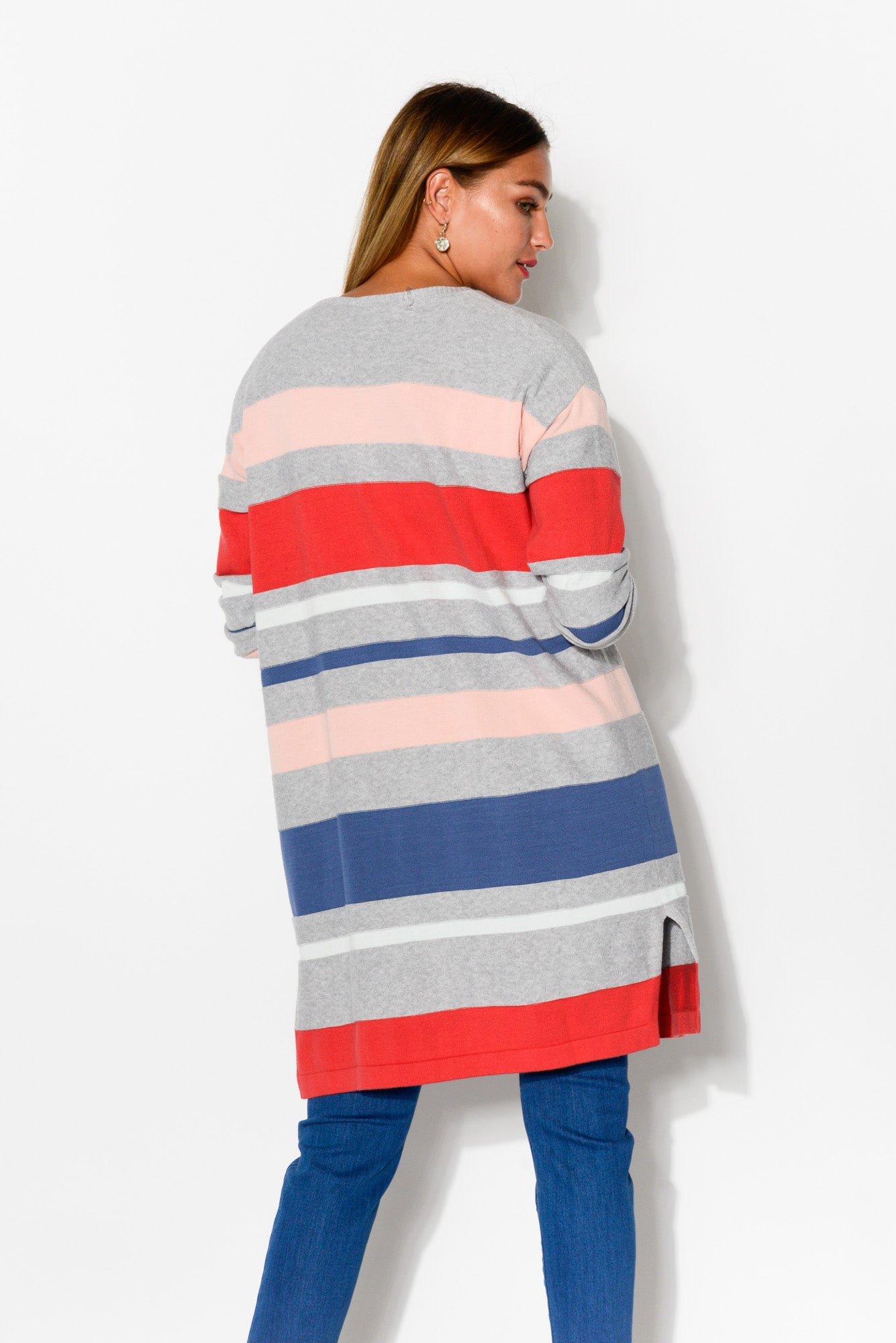 Paradise Multi Stripe Cardigan - Blue Bungalow