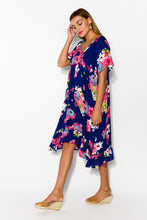 Elka Navy Sakura Swing Dress