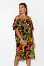 Bianca Black Tropical Dress - Blue Bungalow