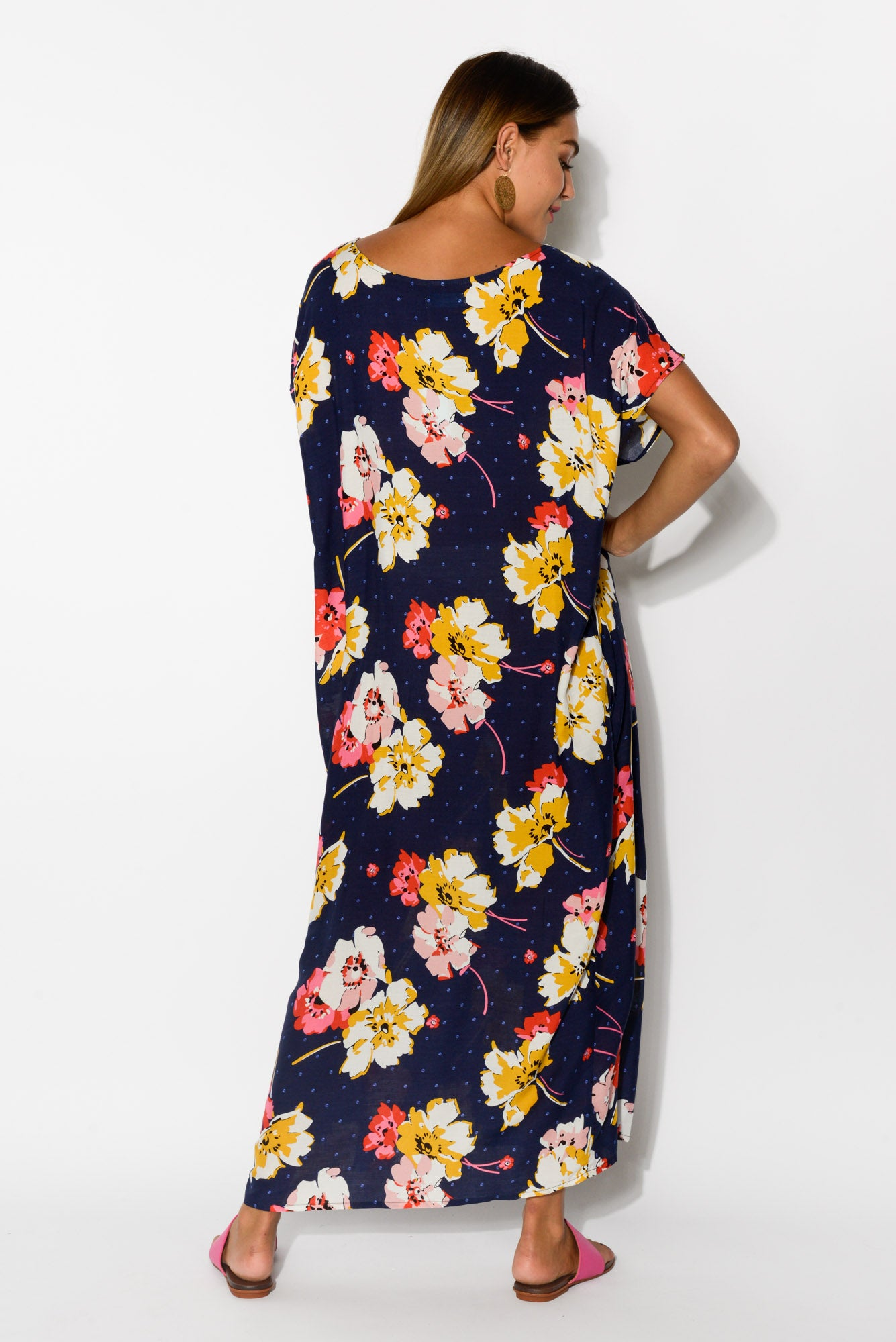 Claudia Navy Gardens Maxi Dress - Blue Bungalow