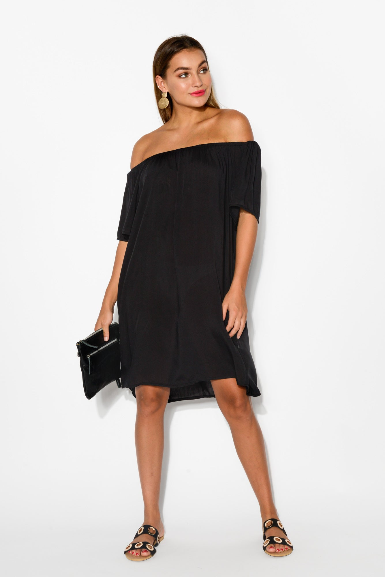 Lauren Black Off Shoulder Dress