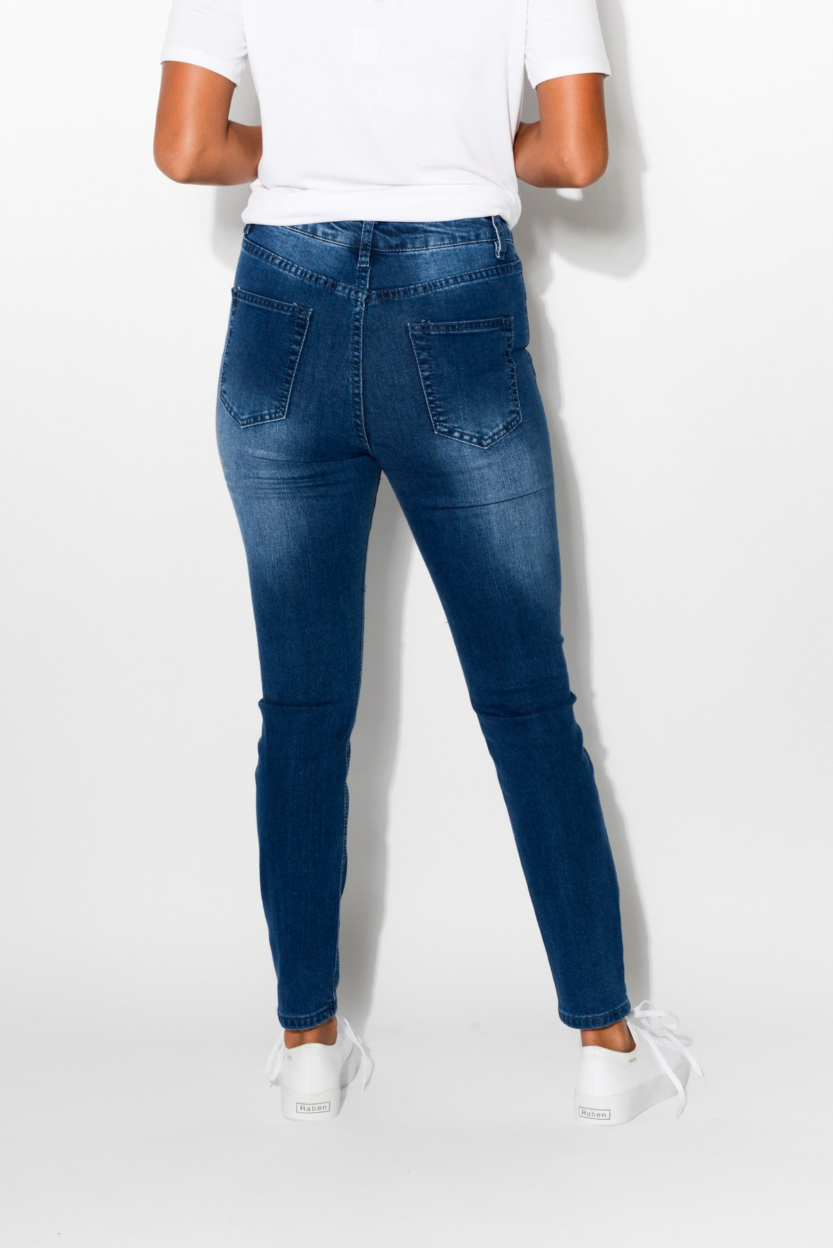 Jasmine Blue Denim Jean - Blue Bungalow
