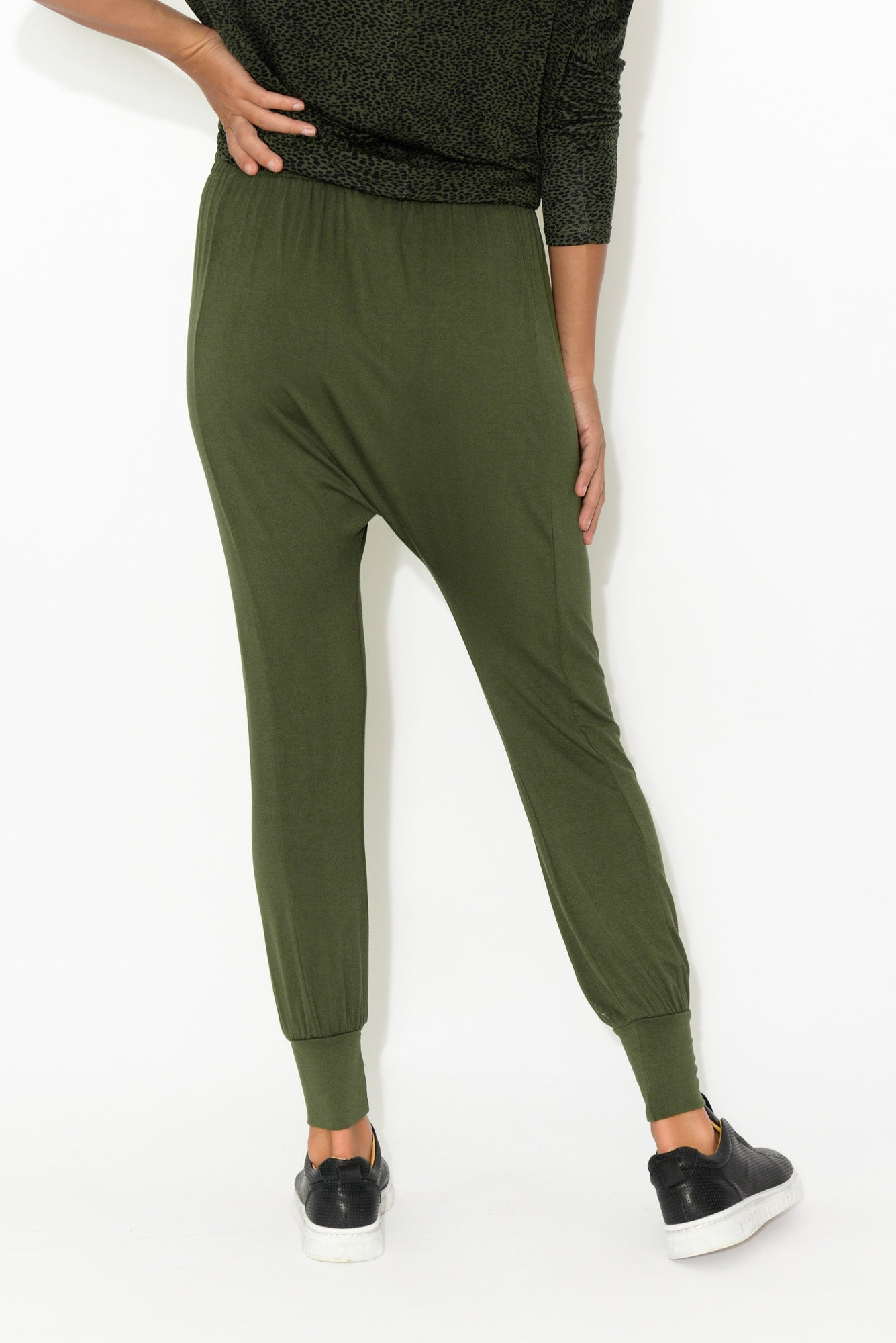 Barcelona Olive Drop Crotch Pant
