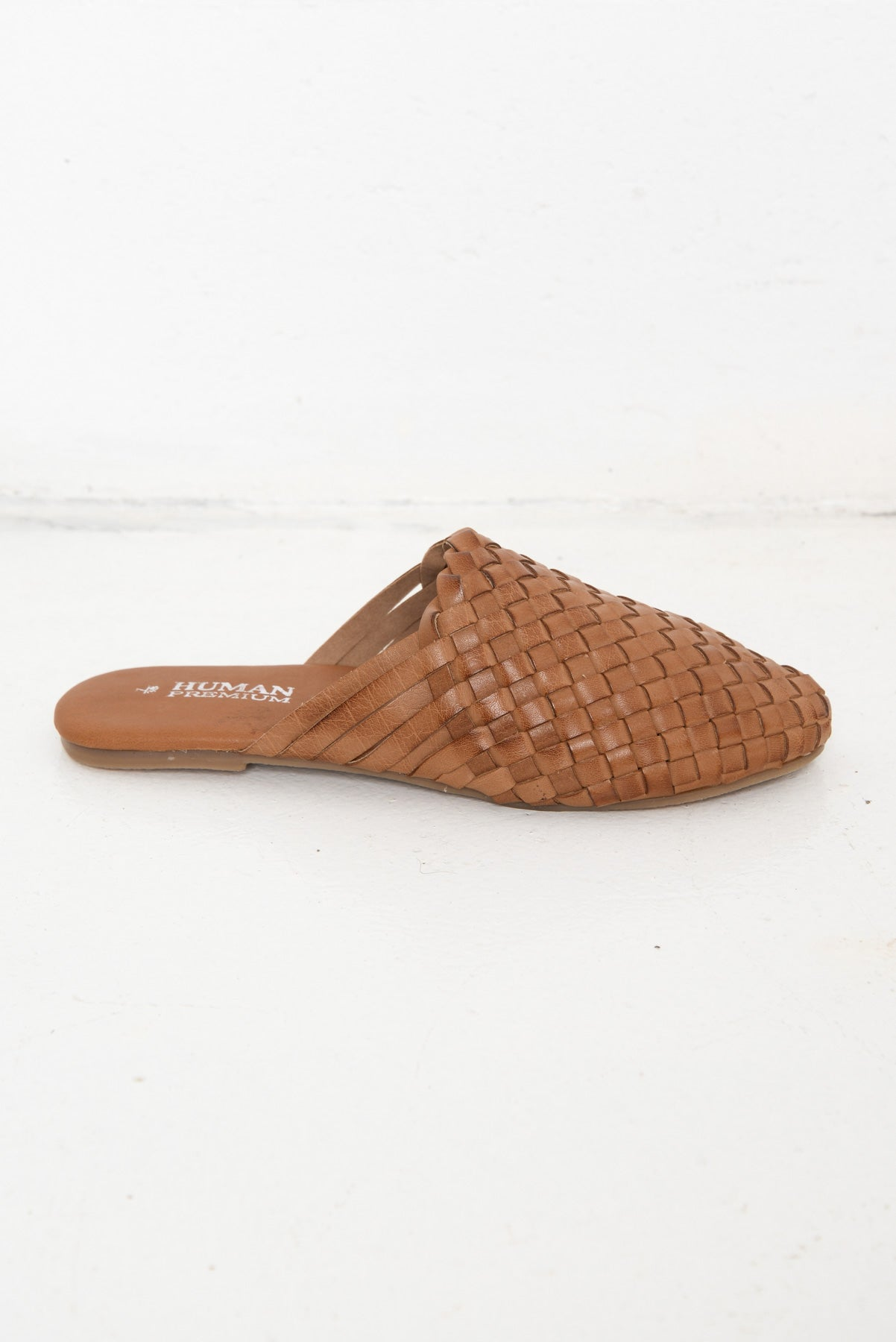 Barland Tan Woven Leather Mule