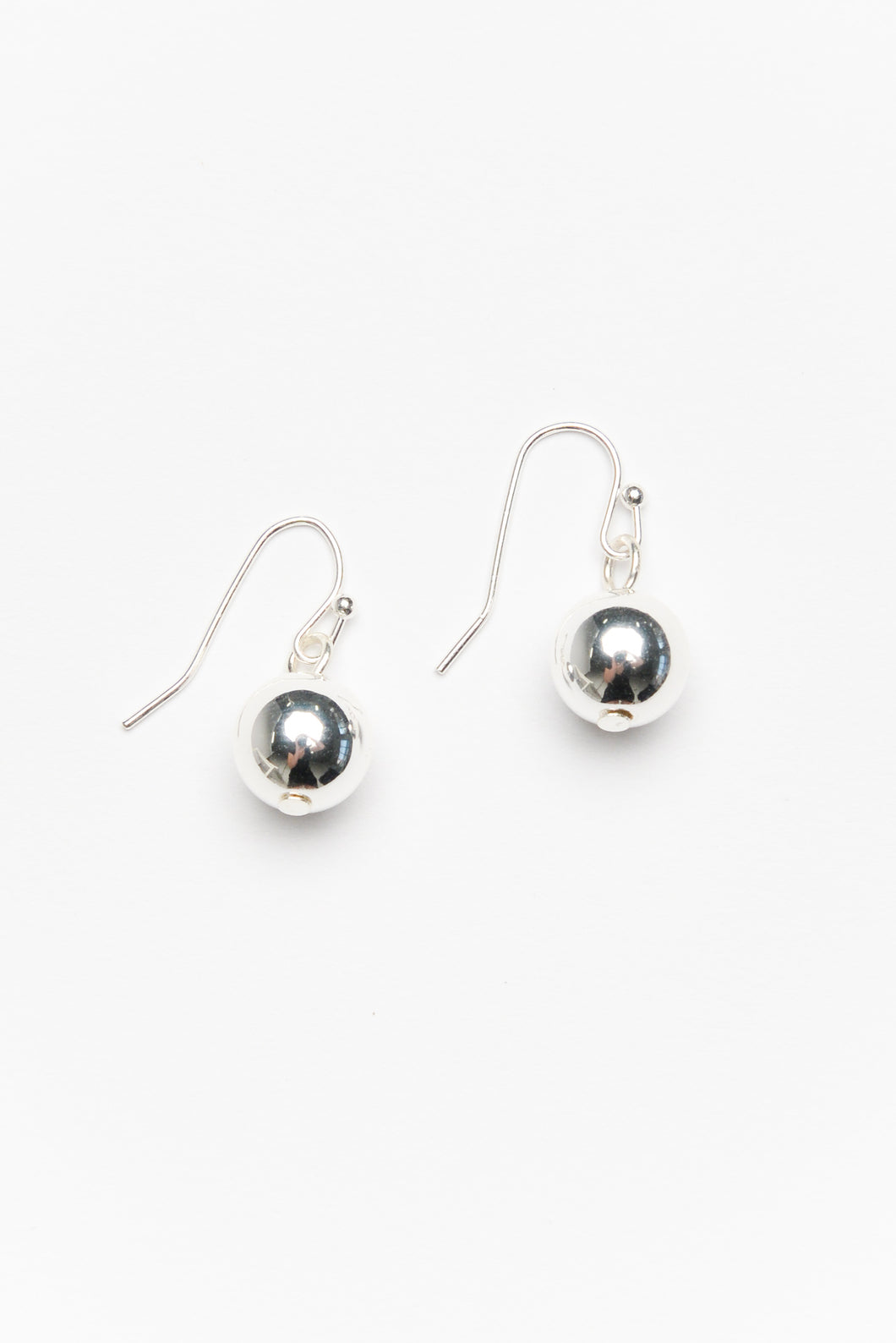 Beth Silver Mini Ball Drop Earring